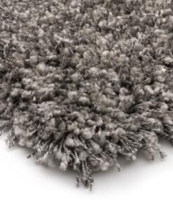 Hoogpolig vloerkleed effen - Shaggy Prime zilver