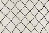 geometrisch hoogpolig vloerkleed