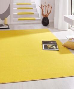 Modern effen vloerkleed Fancy - geel - sfeer, thumbnail