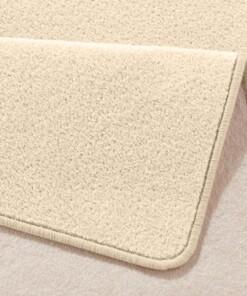 Moderne effen loper Fancy - beige - close up