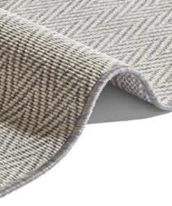 Modern vloerkleed Ida - grijs/crème - close up