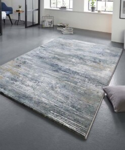 Design vloerkleed Trappes Elle Decor - zilver/blauw - sfeer, thumbnail