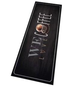 """Keukenloper """"We love coffee"""" Wasbaar 30°C 103833 - overzicht schuin, thumbnail"""