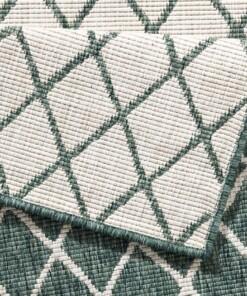 Loper binnen & buiten ruiten Malaga - groen/crème - close up