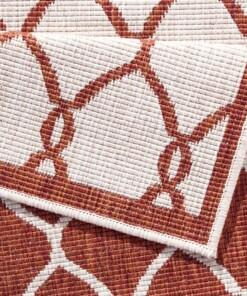 Loper binnen & buiten Rimini - terracotta/crème - close up