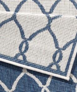 Loper Binnen & buiten Rimini - blauw/crème - close up