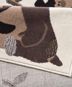 Vloerkleed dieren Bambini - beige/groen - close up