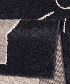 Kindervloerkleed olifant Vini - zwart/grijs - close up
