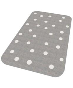 Vloerkleed stippen Niños - grijs - Wasbaar 30°C - overzicht schuin, thumbnail