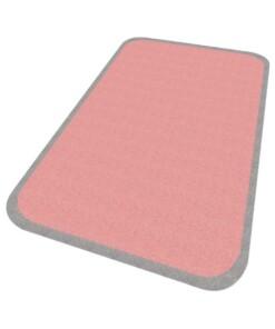 Vloerkleed effen Niños - roze - Wasbaar 30°C - overzicht schuin, thumbnail