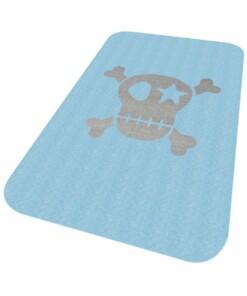 Vloerkleed piraat Niños - blauw - Wasbaar 30°C - overzicht schuin, thumbnail