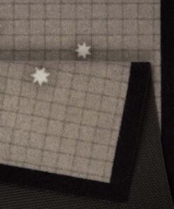 Deurmat kerst rendieren - grijs/bruin - wasbaar 30°C - close up