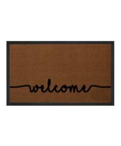 """Deurmat """"Cozy Welcome"""" - bruin/antraciet - wasbaar 30°C - overzicht boven, thumbnail"""