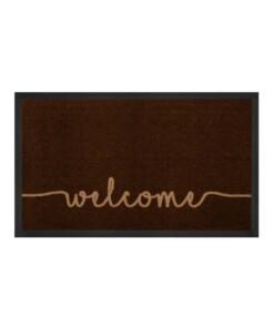 """Deurmat """"Cozy Welcome"""" - donkerbruin - wasbaar 30°C - overzicht boven, thumbnail"""