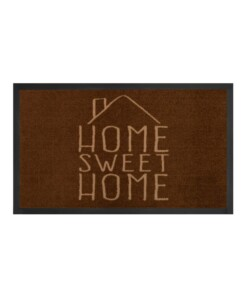 "Deurmat ""Home Sweet Home"" - bruin/crème - wasbaar 30°C - overzicht boven, thumbnail"