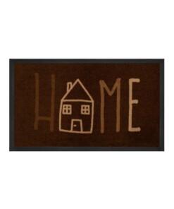 """Deurmat """"Easy Home"""" - bruin/crème - wasbaar 30°C - overzicht boven, thumbnail"""