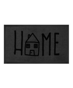 """Deurmat """"Easy Home"""" - grijs/antraciet - wasbaar 30°C - overzicht boven, thumbnail"""