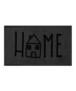 """Deurmat """"Easy Home"""" - Antraciet/grijs - wasbaar 30°C - overzicht boven, thumbnail"""