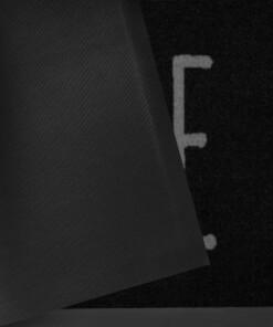 """Deurmat """"Easy Home"""" - Antraciet/grijs - wasbaar 30°C - close up"""