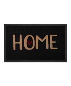 """Deurmat """"Lovely Home"""" - Antraciet/beige - wasbaar 30°C - overzicht boven, thumbnail"""