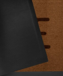 "Deurmat ""Lovely Home"" – bruin – wasbaar 30°C - close up"