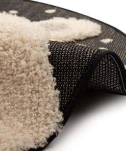 Kinderkamer vloerkleed Icebear Emmet - zwart/crème - close up