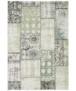 Binnen & buiten vloerkleed patchwork Symi - goud/grijs - overzicht boven, thumbnail