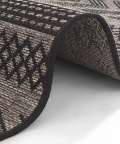 Buitenkleed Sidon - antraciet/beige - close up