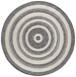 Rond vloerkleed 3D effect Nador - antraciet/grijs - overzicht boven, thumbnail