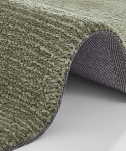 Effen vloerkleed Supersoft - mosgroen - close up