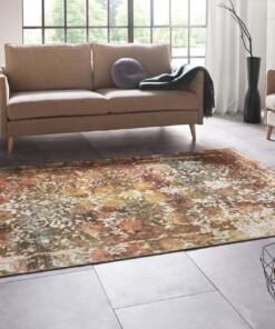 Design vloerkleed met franjes Menga - meerkleurig - sfeer, thumbnail