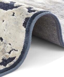 Design vloerkleed 3D Arroux Elle Decor - donkerblauw - close up