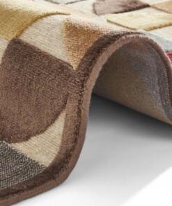 Design vloerkleed 3D Ailette Elle Decoration - bruin/multi - close up