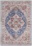 Vintage vloerkleed Anthea - cyaan - overzicht boven, thumbnail