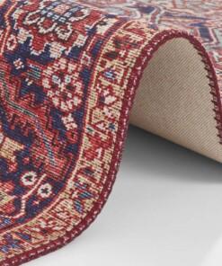 Vintage vloerkleed Amata - rood - close up