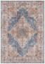 Vintage vloerkleed Sylla - blauw/rood - overzicht boven, thumbnail
