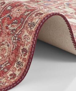Vintage vloerkleed Leta - rood - close up