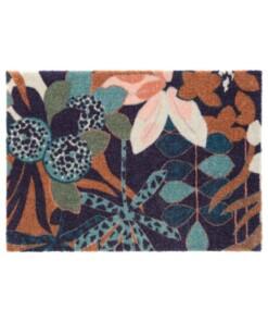 Design deurmat Fleurette Elle Decor - blauw/groen - overzicht boven, thumbnail