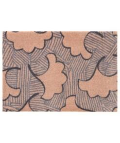 Design deurmat Leaf Elle Decor - bruin/grijs - overzicht boven, thumbnail