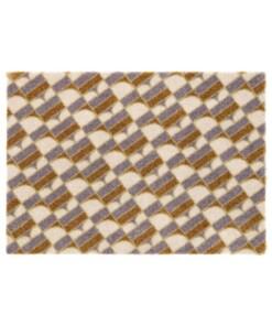 Design deurmat Monogram Elle Decor - grijs/goud - overzicht boven, thumbnail