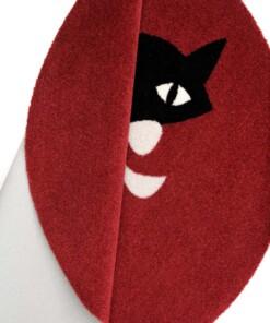 Kinderkleed kat Elle Decor - bordeauxrood - close up