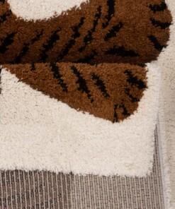 Kinderkleed Tijger Lewis - bruin/zwart - close up