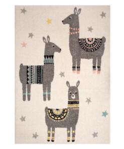 Kinderkleed Lama Vriendjes - crème/meerkleurig - overzicht boven, thumbnail