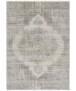 Vintage vloerkleed Garonne Elle Decoration - crème/groen - overzicht boven, thumbnail