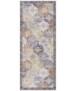 Oosters vloerkleed Kashmir Ghom Elle Decoration - denim blauw - overzicht boven, thumbnail