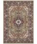 Klassiek vloerkleed Skazar Isfahan - blauw - overzicht boven, thumbnail