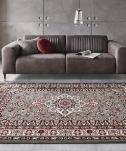 Perzisch tapijt Parun Täbriz - grijs/rood - sfeer, thumbnail