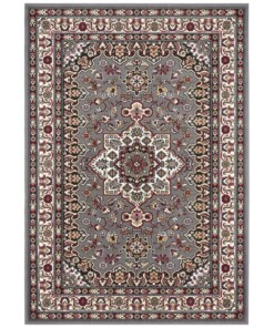 Perzisch tapijt Parun Täbriz - grijs/rood - overzicht boven