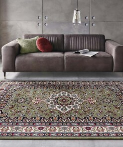 Perzisch tapijt Parun Täbriz - groen - sfeer, thumbnail