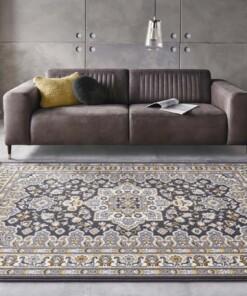 Perzisch tapijt Parun Täbriz - donkergrijs/geel - sfeer, thumbnail